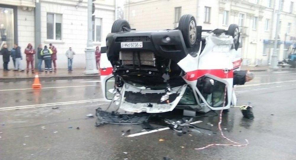 Ситроен врезался вмашину скорой помощи вМинске— погибла женщина