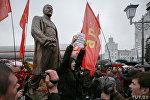 Дмитрий Дашкевич на открытии памятника Ленину