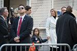 Иванка Трамп и Джаред Кушнер с дочерью в день выборов президента США