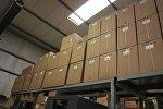 Коробки с продукцией, архивное фото