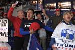 СПУТНИК_Итоги выборов президента США:  ликование республиканцев и слезы демократов