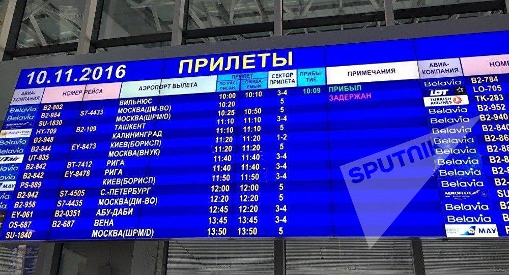 Аэропорты столицы отменили около 100 рейсов— Снегопад