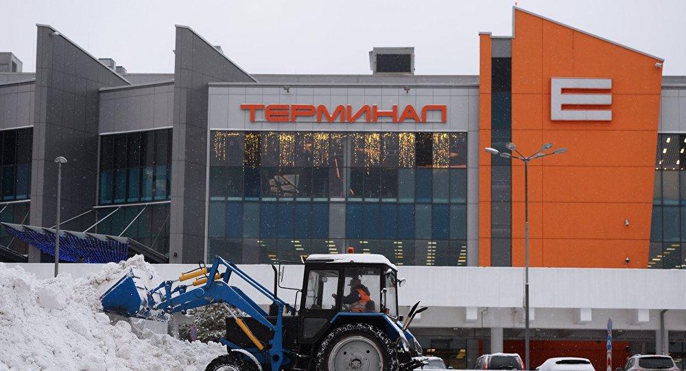 Ваэропортах столицы отменили около 100 рейсов из-за ледяного дождя