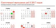 Святочныя і выходныя дні ў 2017 годзе