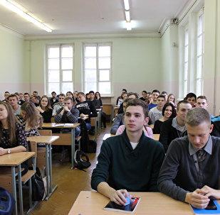 Студенты на лекции, архивное фото
