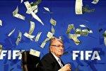Президента ФИФА Йозефа Блаттера, мягко говоря, удивила выходка британского комика