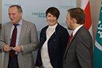 Татьяна Короткевич с Владимиром Некляевым и Андреем Дмитриевым