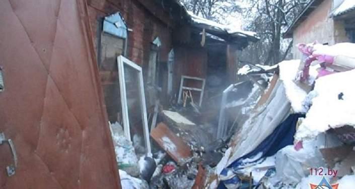 ВМинске горящий мусоровоз приехал прямо впожарную часть