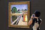Картина Девушки на мосту Эдварда Мунка