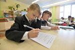 На уроке ў школе