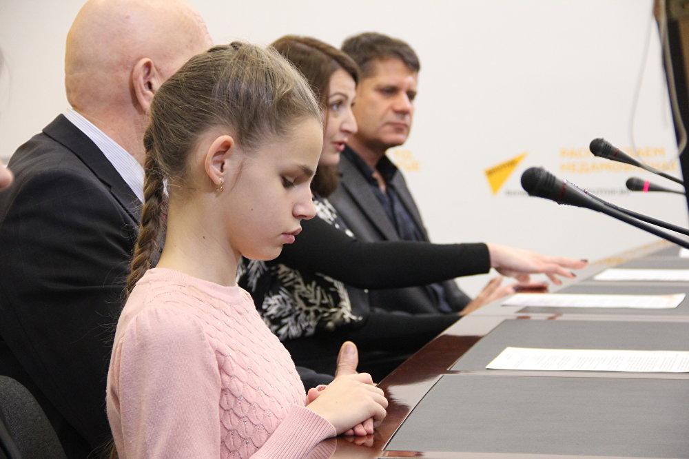 Пресс-конференция об инклюзивном проекте для детей с ослабленным зрением