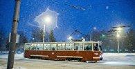 Трамвай у горадзе, архіўнае фота