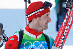 Сергей Новиков (Беларусь), завоевавший серебряную медаль, после финиша в индивидуальной гонке на 20 километров в соревнованиях по биатлону на XXI зимних Олимпийских играх