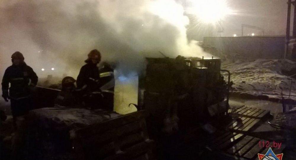 Наместе возведения 3-й веточки метро произошел пожар