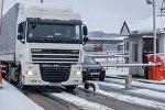 Фура на границе Литвы и Беларуси