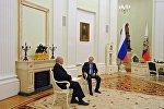 Рабочая встреча президента РФ В. Путина с президентом Беларуси А. Лукашенко