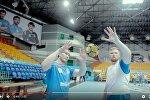 Кадр из видео с участием гандболистов БГК им. Мешкова