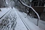 Снег на городских улицах