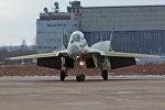 Двухместный корабельный истребитель МиГ-29КУБ на аэродроме Летно-исследовательского института им. М.М.Громова.