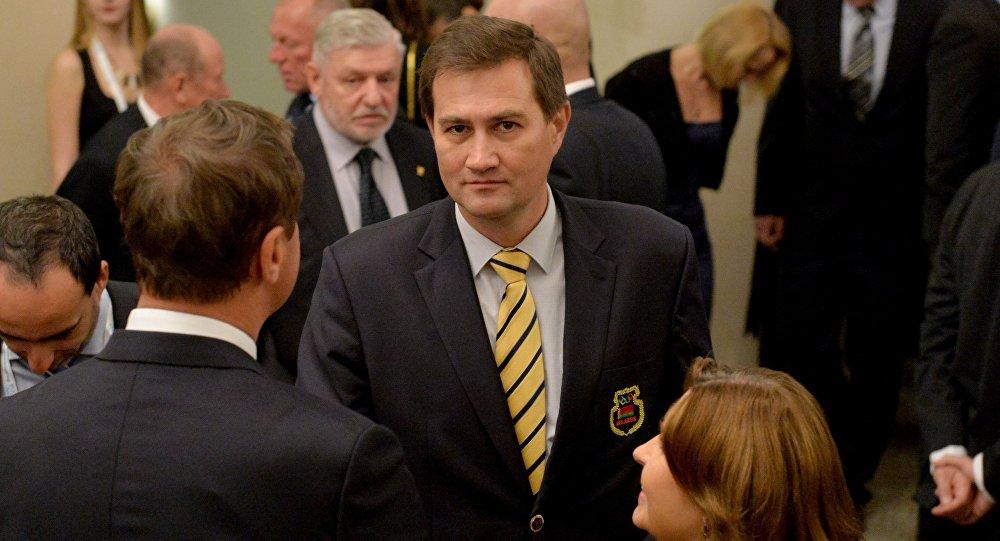 Председатель Белорусской федерации баскетбола Максим Рыженков