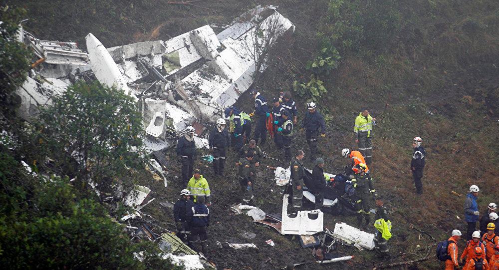 Место падения самолета