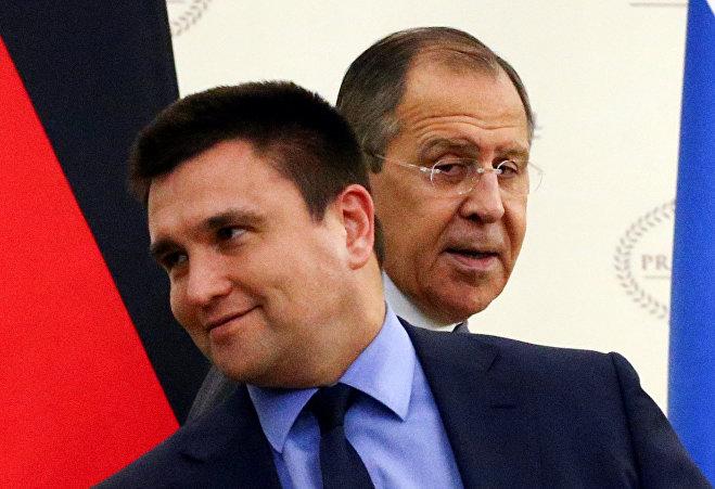 Министры иностранных дел Украины и России Павел Климкин и Сергей Лавров