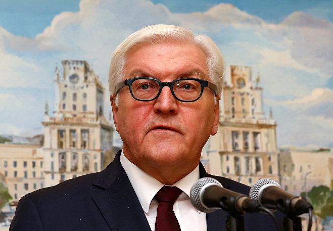 Министр иностранных дел ФРГ Франк-Вальтер Штайнмайер в Минске