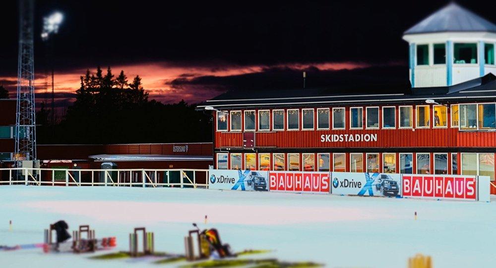Биатлонный стадион в шведском Эстерсунде