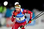 Белорусская биатлонистка Дарья Юркевич