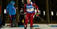 Белорусская биатлонистка Дарья Юркевич в индивидуальной гонке в Эстерсунде