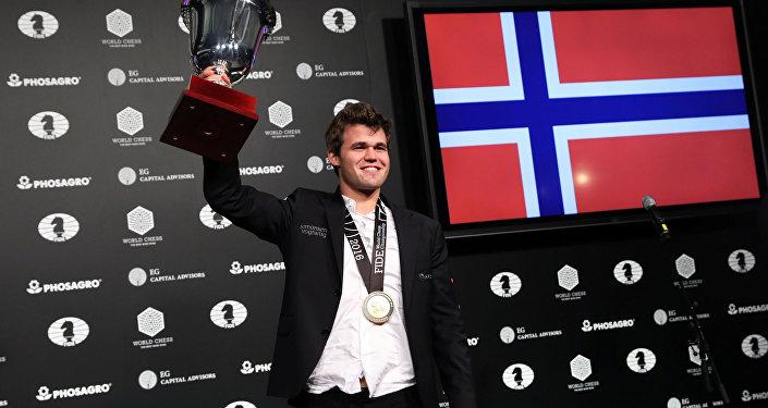Норвежский гроссмейстер Магнус Карлсен