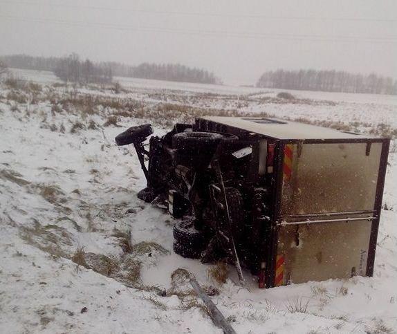 Водитель грузовика в ДТП не пострадал