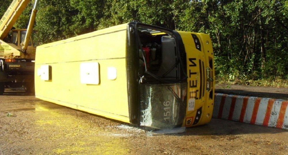 Краш-тест автобуса МАЗ