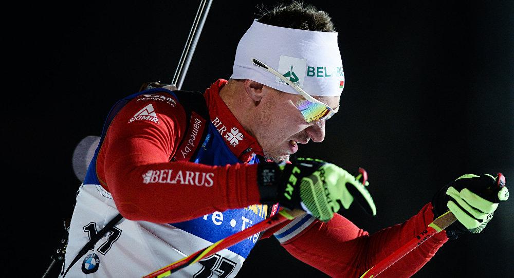 Белорусский биатлонист Владимир Чепелин