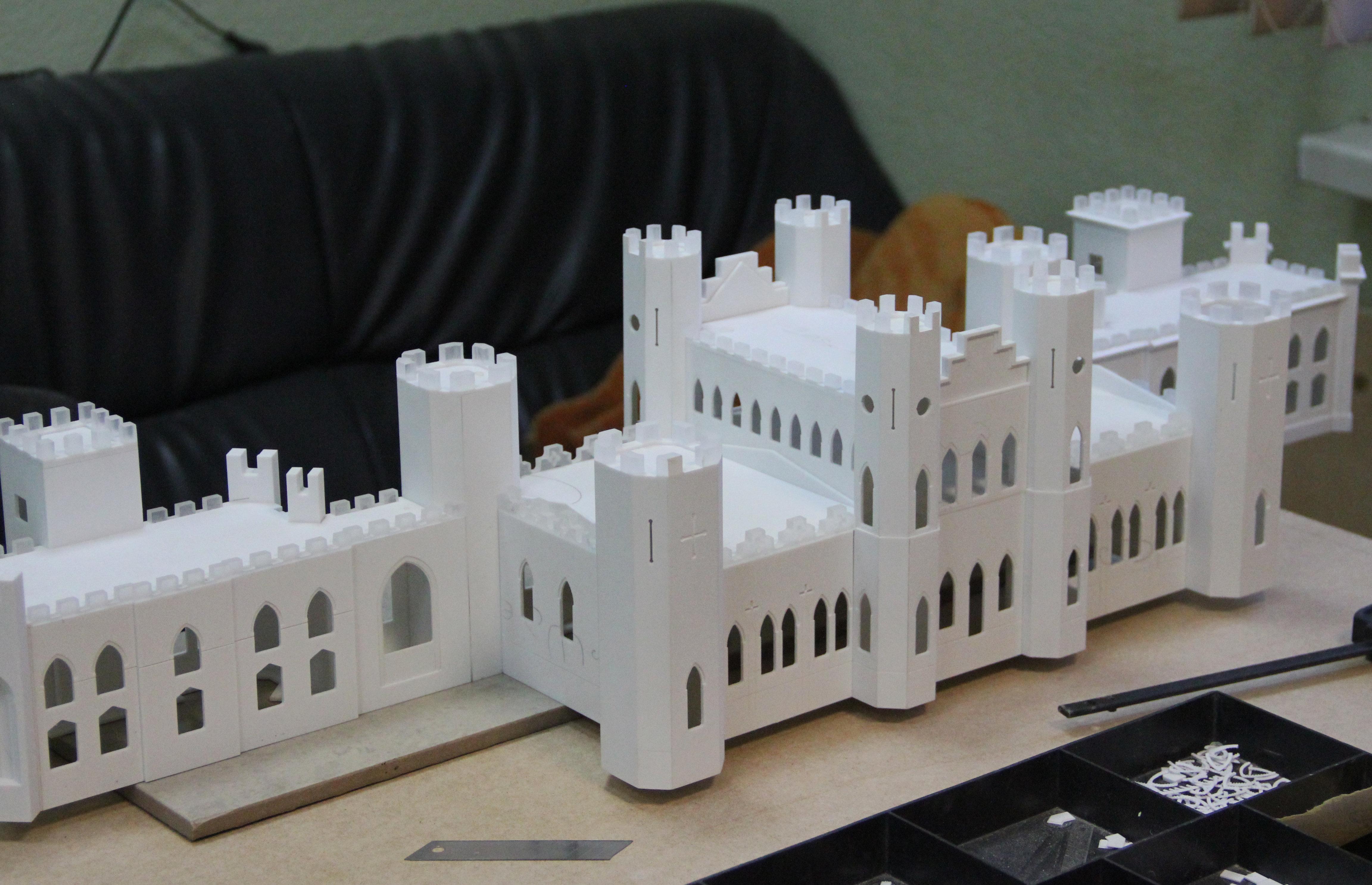Дворец Пусловских в Косово было непросто воссоздать в миниатюре - слишком сложная геометрия