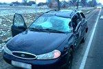 Машина, попавшая в ДТП в Кобринском районе