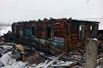 На месте пожара в д. Куковячино Витебского района