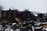 На месте пожара в деревне Куковячино Витебского района