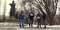 Видеофакт: пикет против строительства ядерного кладбища у границ РБ
