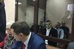 Ошмянские таможенники перед началом  процесса в  Минском областном суде