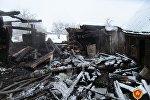 Последствия пожара в деревне Куковячино Витебского района