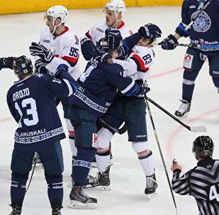 Матч Динамо-Минск - Слован в КХЛ