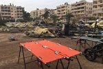Мобильный госпиталь Минобороны РФ в Алеппо подвергся обстрелу