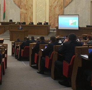 Семинар Законотворческий процесс в Беларуси проходит в Овальном зале