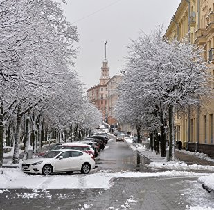 Снег у Мінску