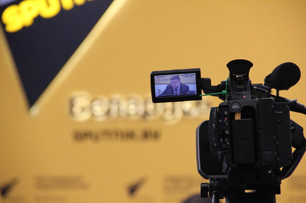 В ходе брифинга в пресс-центре Sputnik