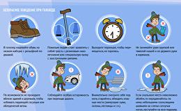 Инфографика на sputnik.by: Правила поведения при гололёде