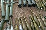 Оружие и боеприпасы, сданные боевиками правительственным сирийским войскам