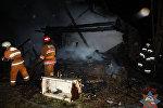 Пожар в Поставском районе
