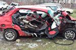 Машина, разбитая под Могилевом
